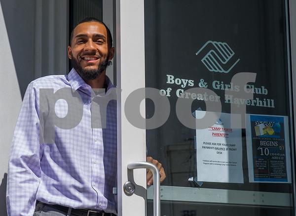 AMANDA SABGA/Staff photo   Javier Bristol is the new director of the Haverhill Boys and Girls Club.  8/20/18