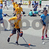 RYAN HUTTON/ Staff photo<br /> Aiden Macisaac, 11, closes in on the Doherty Middle School net to take a shot as Wood Hill Middle School and Doherty Middle face off at the Andover Hockey Association street hockey tournament at Merrimack College on Sunday.