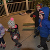 TIM JEAN/Staff photo<br /> <br /> Dancing around the Christmas tree are from left to right, Alana Shields, 4, her sister Sylnana, 2, Dylan McCool, 7, and his brother Colin, 5, all of Andover, during Andover's annual Holiday Happenings.   12/7/18
