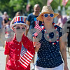 AMANDA SABGA/Staff photo<br /> <br /> Katja Maracelias and her son Ethan, 10, of Andover walk down Main Street in the Horribles Parade during Andover's Fourth of July celebrations.<br /> <br /> 7/4/18