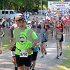 RYAN HUTTON/ Staff photo<br /> Boston Marathon race director Dave McGillivray heads down the opening stretch of the Ironstone Derby 5K at Ironstone Farm on Sunday morning.