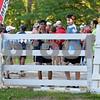 RYAN HUTTON/ Staff photo<br /> Andover high students Will Shahbazian, 16, left, and Max Tweedale, 15, right, wait for the Ironstone Derby 5K to start at Ironstone Farm on Sunday morning.
