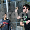TIM JEAN/Staff photo<br /> <br /> <br /> Andover's Brendan Maye throws the shot-put during a unified track meet against North Middlesex Regional. The event was held in the Lovely Stadium at Andover High School. 5/1/18