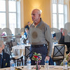 AMANDA SABGA/Staff photo <br /> <br /> US Marine Corps veteran stands as students from Doherty Middle School perform service songs during the annual Veterans Luncheon at Old Town Hall in Andover.<br /> <br /> 11/2/18