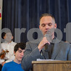 AMANDA SABGA/Staff photo <br /> <br /> Pastor Brian Bethke of the Free Christian Church, a US Marine Corps veteran, performs a blessing during the annual Veterans Luncheon at Old Town Hall in Andover.<br /> <br /> 11/2/18