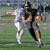 TIM JEAN/Staff photo<br /> <br /> Andover running back Joshua Ramos runs for a big gain against Methuen during the D1 North playoff football game. Andover defeated Methuen 40-12. Ramos had four touchdowns on the day.    11/2/19