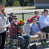 TIM JEAN/Staff photo<br /> <br /> Carlene Bell-Flanagan speaks as town and school officials celebrate the grand opening of the High Plain Elementary and Wood Hill Middle School Athletic Field Accessibility Project. The ramp will connect the schools' basketball court to the lower soccer fields.  10/5/18