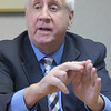 TIM JEAN/Staff photo<br /> <br /> State Rep. Jim Lyons makes a point while he answers questions during a editorial board meeting.  10/4/18