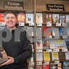 AMANDA SABGA/Staff photo<br /> <br /> John Hugo owner of the Andover Bookstore poses for a photo in his store which is the oldest independent bookstore in the country.<br /> <br /> 2/1/19