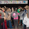 AMANDA SABGA/Staff photo<br /> <br /> Kids dance to music by Maroon 5 as Bancroft Elementary hosts their annual Patriots' rally in anticipation of the Super Bowl on Sunday.<br /> <br /> 2/1/19