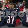 AMANDA SABGA/Staff photo<br /> <br /> Kids support their teams as Bancroft Elementary hosts their annual Patriots' rally in anticipation of the Super Bowl on Sunday.<br /> <br /> 2/1/19