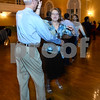 CARL RUSSO/Staff photo. TOWNSMAN: Peter Kalafarski spins his wife Leslie during the lessons. They live in North Andover. <br /> <br /> Andover hosted another First Friday event salsa dancing and lessons. The Town is partnering with First Dance Studio in Andover and Royal Palace Dance Studio of Manchester, NH. 2/01/2019.