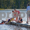 MIKE SPRINGER/Staff photo<br /> A group of Andover teens practice a rescue maneuver before their final test during a New England Health And Safety Training class Sunday at Pomps Pond in Andover. From left are Neil Slotnick, 15, Katherine Carroll, 15, Claire Cahill, 15, Molly Lynch, 15, Emily Kowalski, 17, and Ryan O'Meara, 15.<br /> 6/9/2019