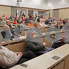 MIKE SPRINGER/Staff photo<br /> Members of the public attend the Service Club of Andover's 2019 candidates forum Tuesday evening at the Andover Public Safety Center.<br /> 3/5/2019