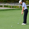CARL RUSSO/staff photo. Andover golfer, Alicia Wang is unable to sink her putt. Andover defeated Central Catholic in golf action at the Renaissance Country Club in Haverhill on Tuesday, September 17.  9/17/2019