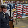 TIM JEAN/Staff photo<br /> <br /> Lawrence Fire Lt. Jimmy Flynn has been the Master of Ceremonies for the annual 9/11 memorial ceremony at the Ladder 4 Fire Station in Lawrence. This year was his last to oversee the ceremony as he plans on retiring.    9/11/19