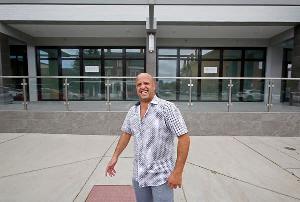 MIKE SPRINGER/Staff photo<br /> Owner Paul LaRosa in front of his soon-to-open new restaurant, La Fina, at 27-45 Main Street in Andover.<br /> 9/23/2019
