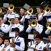 CARL RUSSO/Staff photo Andover High Warrior Marching Band perform during the first home football game of the season.  <br /> <br /> The Andover Warriors were defeated 31-12 by the Wayne Valley Indians of New Jersey in a non conference football game Friday afternoon. 9/6/2019