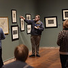 TIM JEAN/Staff photo <br /> <br /> Gordon Wilkins, Associate Curator of American Art, leads a tour of Man Up! Visualizing Masculinity in 19th-Century America, at the Addison Gallery of American Art in Andover.     2/4/20
