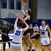 CARL RUSSO/Staff photo Andover's Ryan MacLellan sails to the basket. Andover defeated Methuen 65-53 in boys' basketball action on Friday night. 1/24/2020