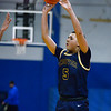 CARL RUSSO/Staff photo Andover's Kyle Rocker takes the three point jump shot. Andover defeated Methuen 65-53 in boys' basketball action on Friday night. 1/24/2020
