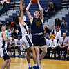 CARL RUSSO/Staff photo. Andover's Aidan Cammann drives to the hoop against Lawrence's Jeremiah Melendez. <br /> <br /> Unfortunately after a hard fought game, Andover was defeated by Lawrence 67-63 in boys' basketball action Tuesday night. 1/14/2020