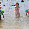 TIM JEAN/Staff photo<br /> <br /> Having fun in the water are from left, Parker Aceto, 4, Londyn Webster, 6, Caroline Aceto, 5, at Andover's Pomps Pond.   7/2/20