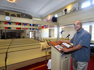 CARL RUSSO/Staff photo Andover Baptist Church will proudly celebrate 15 years of pastoral leadership under the Reverend Lyndon A. Myers (seen here) on Sunday, August 25. 8/23/2019
