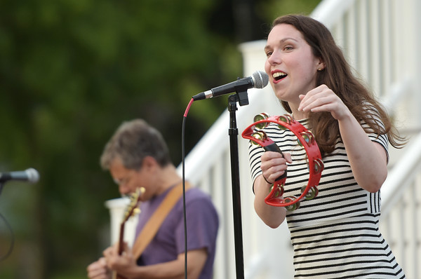 TIM JEAN/Staff photo  Katrina Marie and members of her band perform during Andover's Concerts in the Park series.   8/22/19