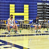 CARL RUSSO/staff photo Andover players maintain separation on the bench because of the virus. Andover high Warriors defeated Central Catholic Raiders 60-57 is the first boys basketball game of the season. 1/12/2021