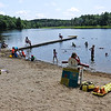 TIM JEAN/Staff photo<br /> <br /> Andover's Pomps Pond is officially open for the season with restrictions because of the coronavirus.     7/2/20