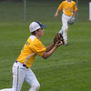 TIM JEAN/Staff photo<br /> <br /> Andover's Charles Gallaudet makes a running catch to end the inning against North Andover in District 14 Little League Championship title game on Tuesday evening.     7/13/21