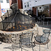 TIM JEAN/Staff photo<br /> <br /> The fire pit area that Bueno Malo restaurant and others will be using when outdoor seating resume next month in Andover. The restaurant will be opening up their patio with an expanded area in the courtyard area on April 1, when the town allows outdoor dining.  3/16/21