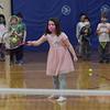 TIM JEAN/Staff photo<br /> <br /> Lena Brown, 6, swings her racket towards the ball during the Pee Wee Tennis class. Children learned basic fundamentals during the Andover Recreation learn to play tennis program at South School.  3/15/21