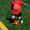 TIM JEAN/Staff photo<br /> <br /> Jack Pambianchi, 4, dribbles the ball towards the goal during the Kickin' Kids Youth Soccer League at Andover's Recreation Park. The recreation league is made up of children ages 4-6 that learn basic soccer fundamentals over several weeks. Players will learn how to pass, shoot, dribble, and play together as a team.   5/1/21
