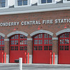 TIM JEAN/Staff photo  <br /> <br /> Construction work continues on Londonderry's Central Fire Station on Mammoth Road that is undergoing a major renovation and expansion project.    4/16/20