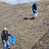 AMANDA SABGA/Staff photo<br /> <br /> Londonderry Trailways volunteers clean up along the Londonderry Rail Trail.<br /> <br /> 4/21/17