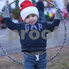 TIM JEAN/Staff photo<br /> <br /> Mikey Freiner, 3, dances to the music with a hula hoop during the Windham Tree Lighting celebration in front of the Town Hall and Town Common Saturday evening.  12/1/18