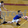 CARL RUSSO/Staff photo. Londonderry's Joshua Ryan keeps the ball in play  in volleyball action against Pinkerton Academy. 5/03/2018