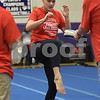 TIM JEAN/Staff photo<br /> <br /> Laura Barchard, of Chester, takes part in the martial arts Kick a Thon to support cancer patients at West Running Brook Middle School. The event was organized by Tim Barchard Professional Martial Arts Academy in Derry.  11/3/18