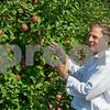 AMANDA SABGA/Staff photo <br /> <br /> New Hampshire Gov. Chris Sununu kicks off apple season at Sunnycrest Farm in Londonderry. <br /> <br /> 9/6/18