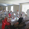 MIKE SPRINGER/Staff photo<br /> Seniors enjoy the Derry Parks and Recreation Department's end-of-summer picnic Thursday at the Alexander-Carr Lodge in Derry.<br /> 9/6/2018