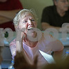 MIKE SPRINGER/Staff photo<br /> Eileen Pellegrino enjoys a conversation during the Derry Parks and Recreation Department's end-of-summer picnic for seniors Thursday at the Alexander-Carr Lodge in Derry.<br /> 9/6/2018