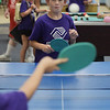 TIM JEAN/Staff photo<br /> <br /> Ryan Jace, of Derry, looks to return a serve from Jonny Porto, both 8, while playing a game of table tennis during the summer programs at the Boys and Girls Club of Greater Derry.   8/1/19
