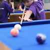TIM JEAN/Staff photo<br /> <br /> James Logan, 7, of Derry, takes aim at the ball while playing a game of billiards during the summer programs at the Boys and Girls Club of Greater Derry.   8/1/19