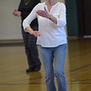 TIM JEAN/Staff photo<br /> <br /> Dance instructor Sharon Dobbie teaches everyone a variety of country line dances to senior citizens at Veterans Memorial Hall in Derry.  1/11/19