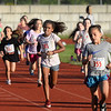 CARL RUSSO/Staff photo Runners compete in the seven and eight years old race. <br /> <br /> The 45th year for the Greater Derry Track Club's annual summer Fun Runs for kids of all ages. The event is held at the Londonderry High School track. 7/01/2019