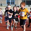 CARL RUSSO/Staff photo Four and Five year-olds race to the fish line. The 45th year for  the Greater Derry Track Club's annual summer Fun Runs for kids of all ages. The event is held at the Londonderry High School track. 7/01/2019