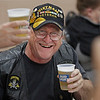 MIKE SPRINGER/Staff photo<br /> Frank Torre, a U.S. Army Vietnam War veteran, joins old friends in a toast during the Veterans Recognition Dinner sponsored by the Rotary Clubs of Derry on Thursday at the Boys and Girls Club of Derry.<br /> 5/30/2019