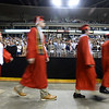 CARL RUSSO/Staff photo Pinkerton graduates enter the arena. Over 700 Pinkerton Academy seniors graduated Monday afternoon from the Southern New Hampshire University Arena in Manchester.  6/10/2019